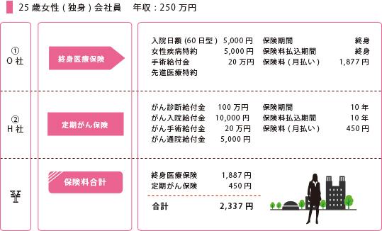25歳女性(独身)会社員 年収:200万円