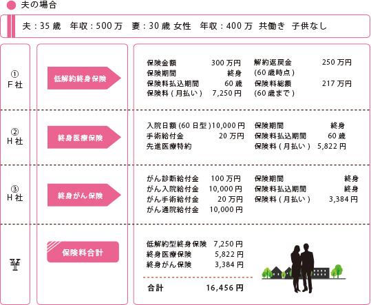 夫婦共働き(子供なし①)夫:35歳 年収500万円:妻30歳 年収400万円
