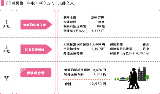 60歳男性 年収400万円 夫婦2人(子供独立)