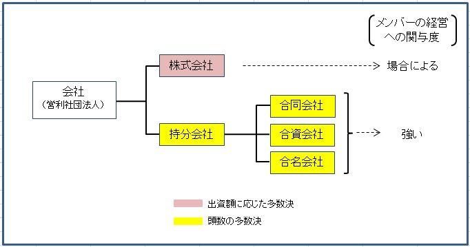 意思決定の方法による分類